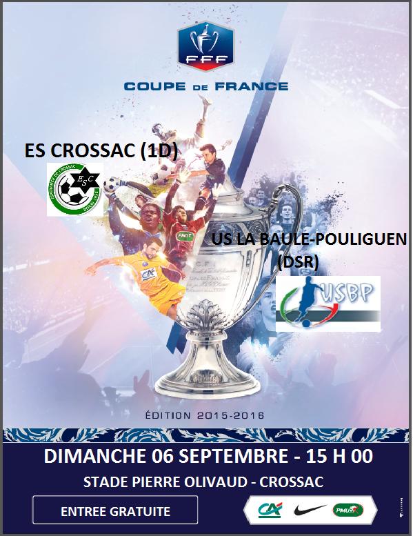 Actualit tirage 2 me tour de coupe de france club football esp rance de crossac footeo - Date coupe de france 2015 ...
