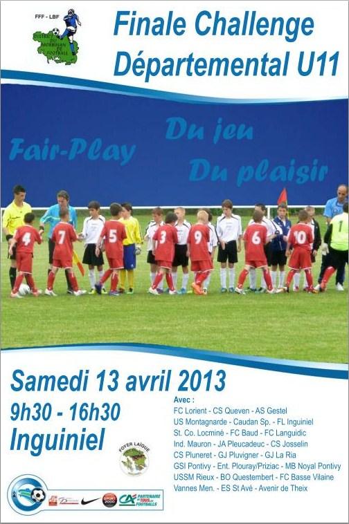 Affiche officielle de la finale départementale du Challenge U11 édition 2012-2013