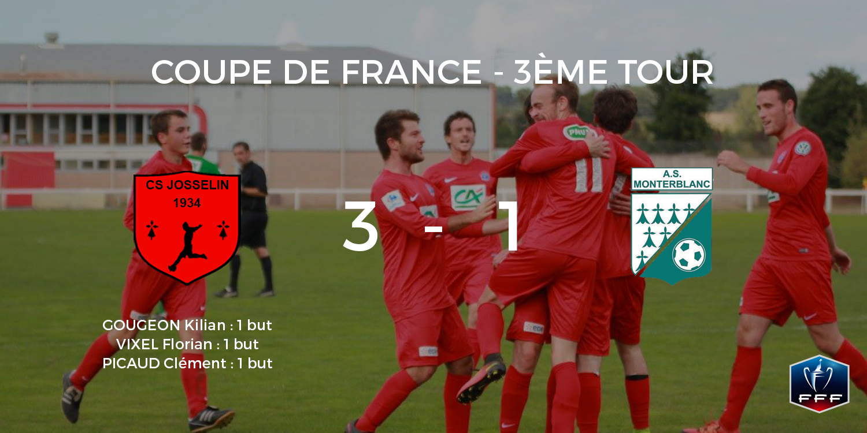 Victoire 3 buts à 1 face à l'A.S. Monterblanc