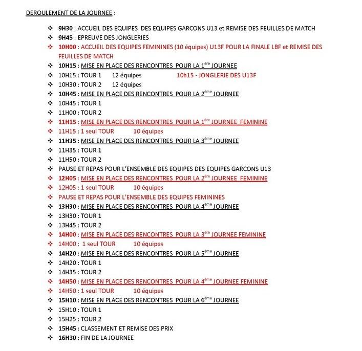 Affiche officielle de la finale départementale H. Guérin CN U13 édition 2012-2013 suite