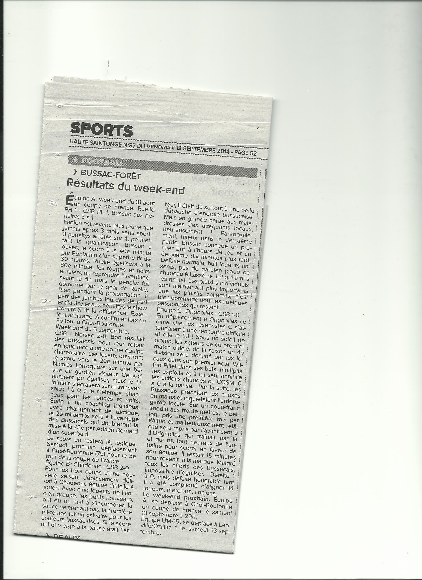 article saintonge