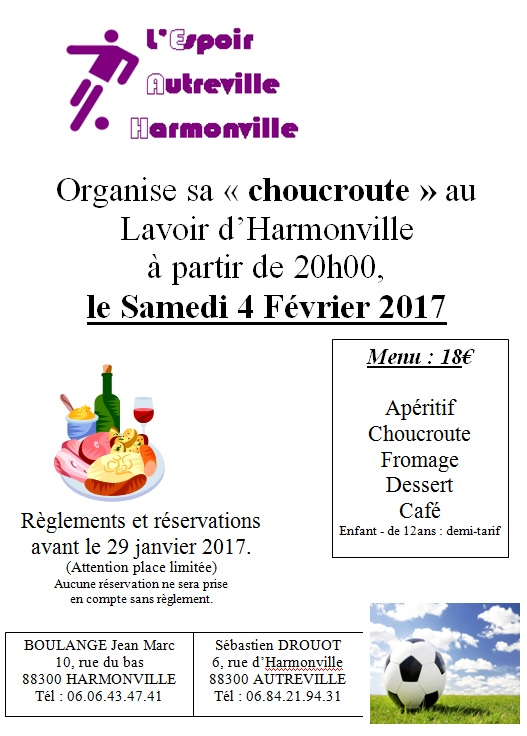CHOUCROUTE 2017