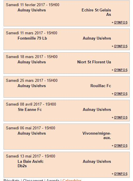 calendrier aulnay