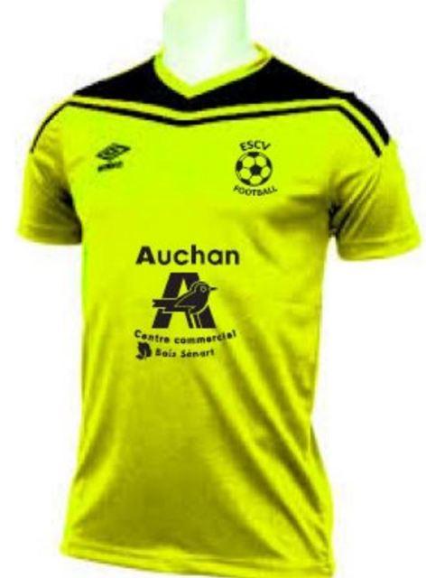 Actualit remise officielle maillot sponsor auchan club football es cesson vert st denis cdm - Auchan melun senart boissenart cesson ...