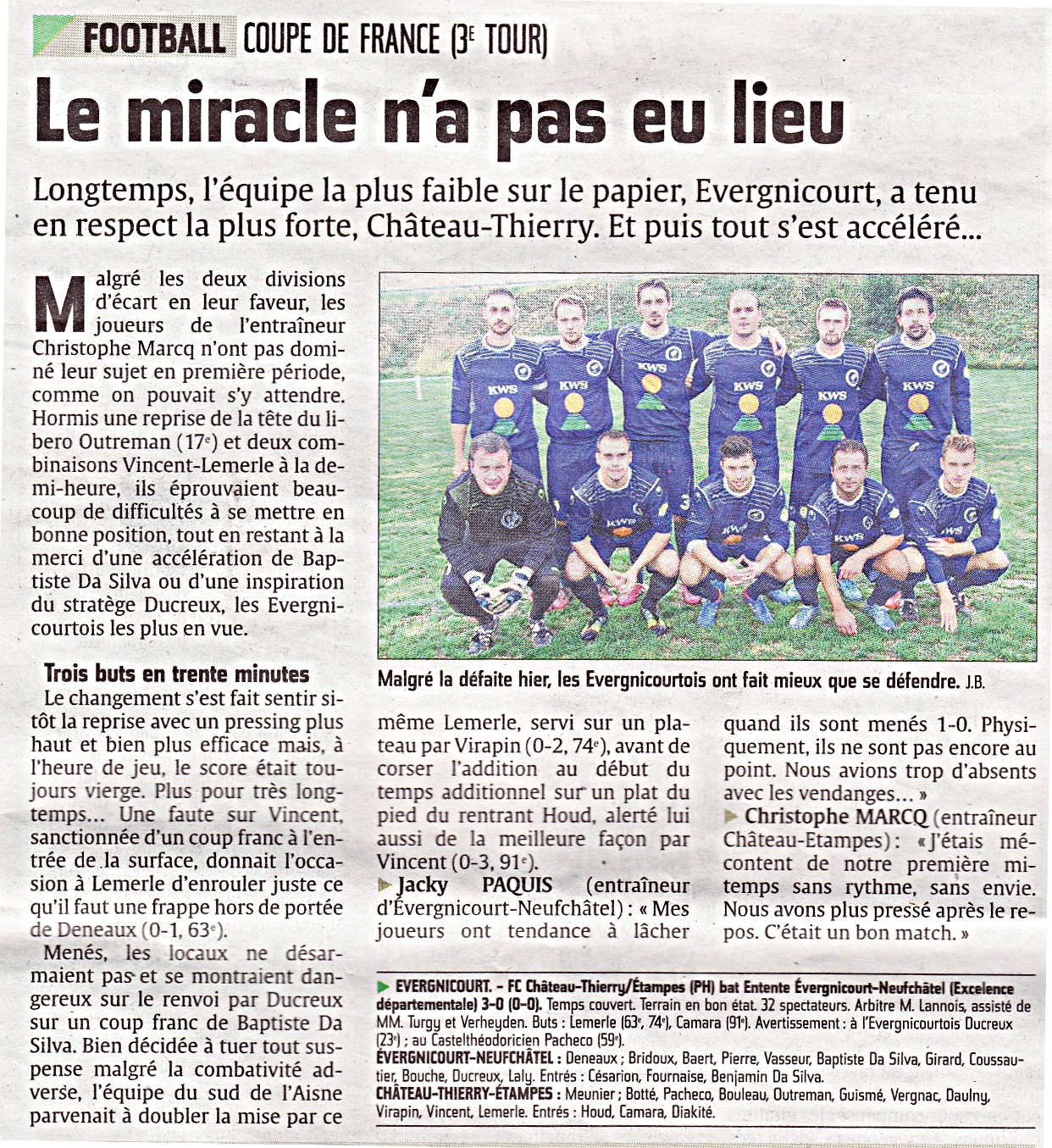 L'Union France  city pictures gallery : Actualité Article de l'Union Coupe de France club Football ...