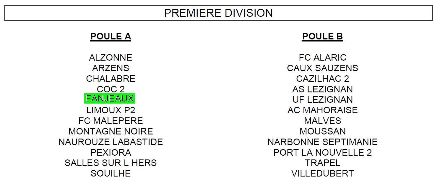 Saison 2012-2013 - Première Division - Poule A