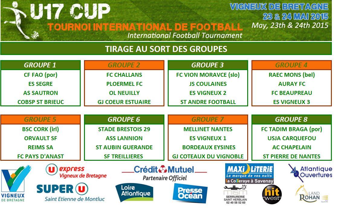Groupes U17CUP 2015