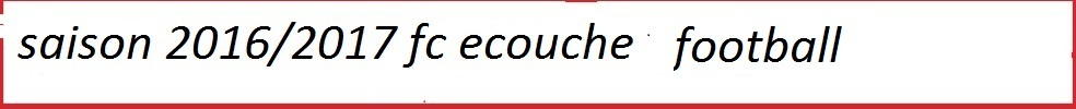 FOOTBALL CLUB ECOUCHE : site officiel du club de foot de ECOUCHE - footeo
