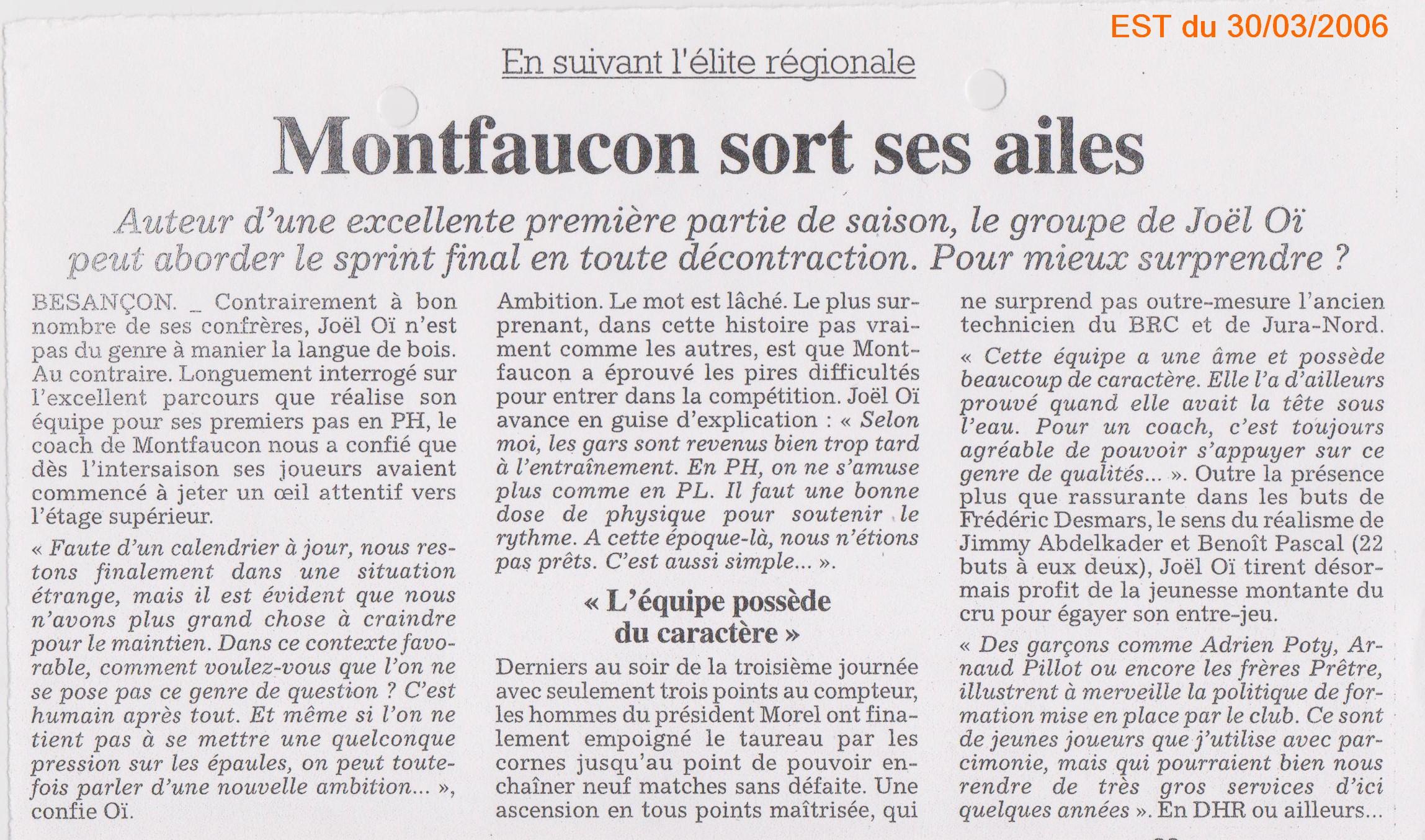 EST du 30/03/2006