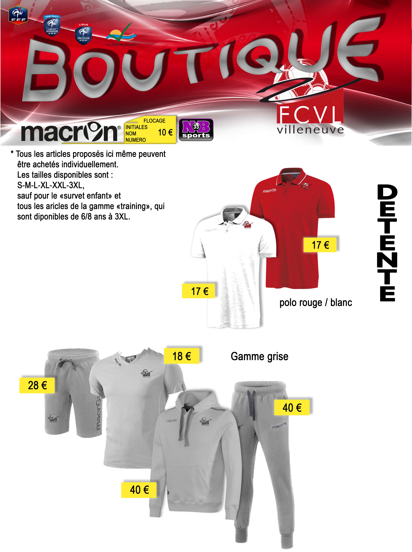 Boutique officielle du FCVL - Macron - nbsports 33