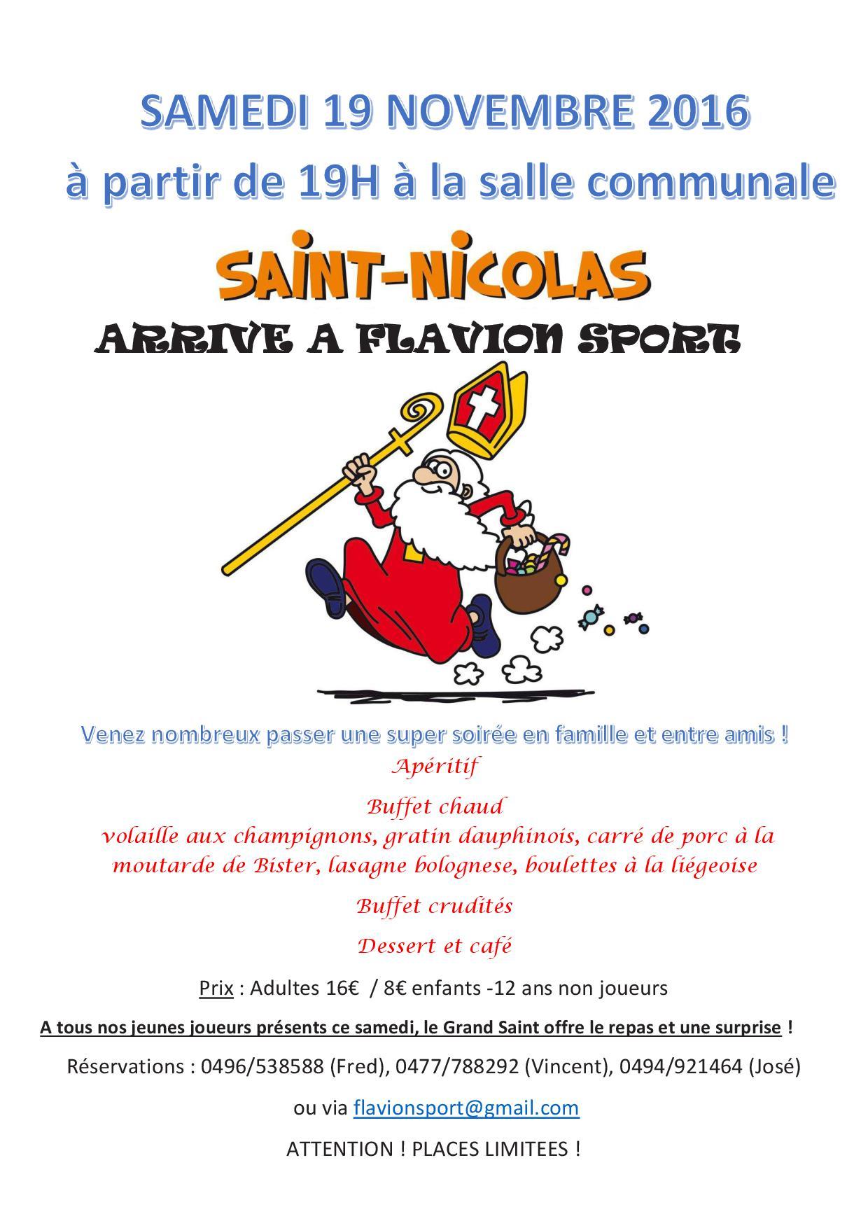 Affiche souper St Nicolas 2016