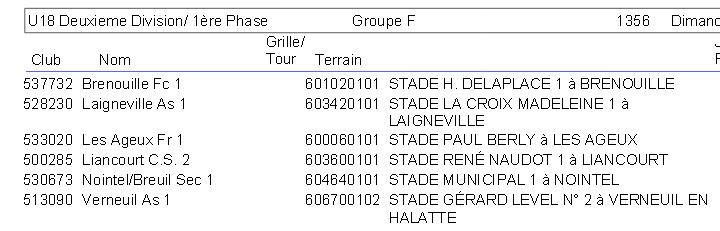 U18 Deuxième division Groupe F