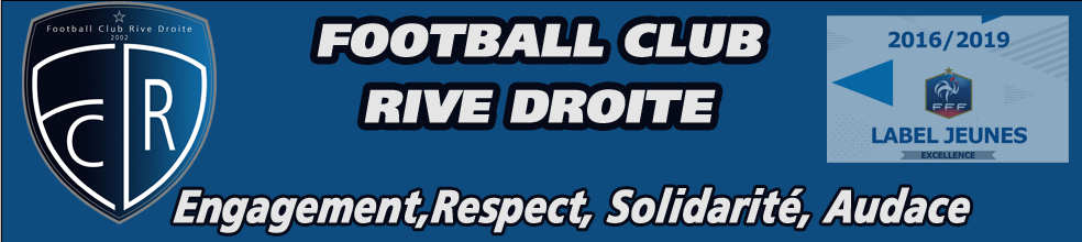 Site Internet officiel du club de football Football Club Rive Droite