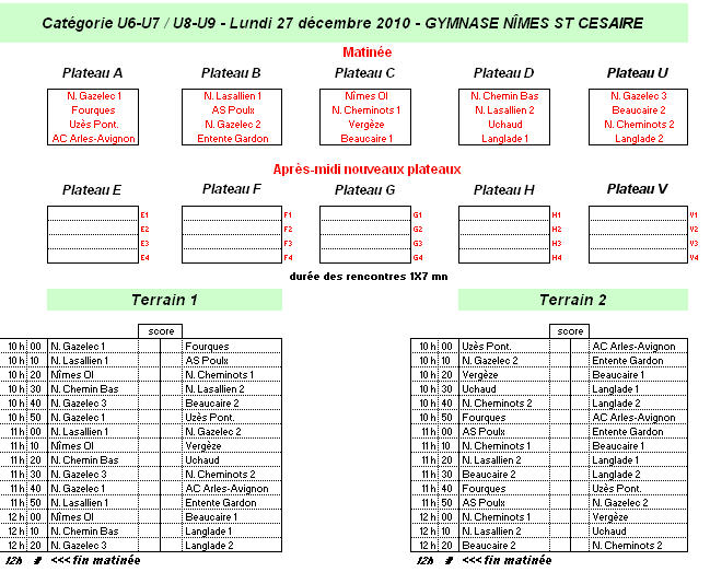 programme U8-U9
