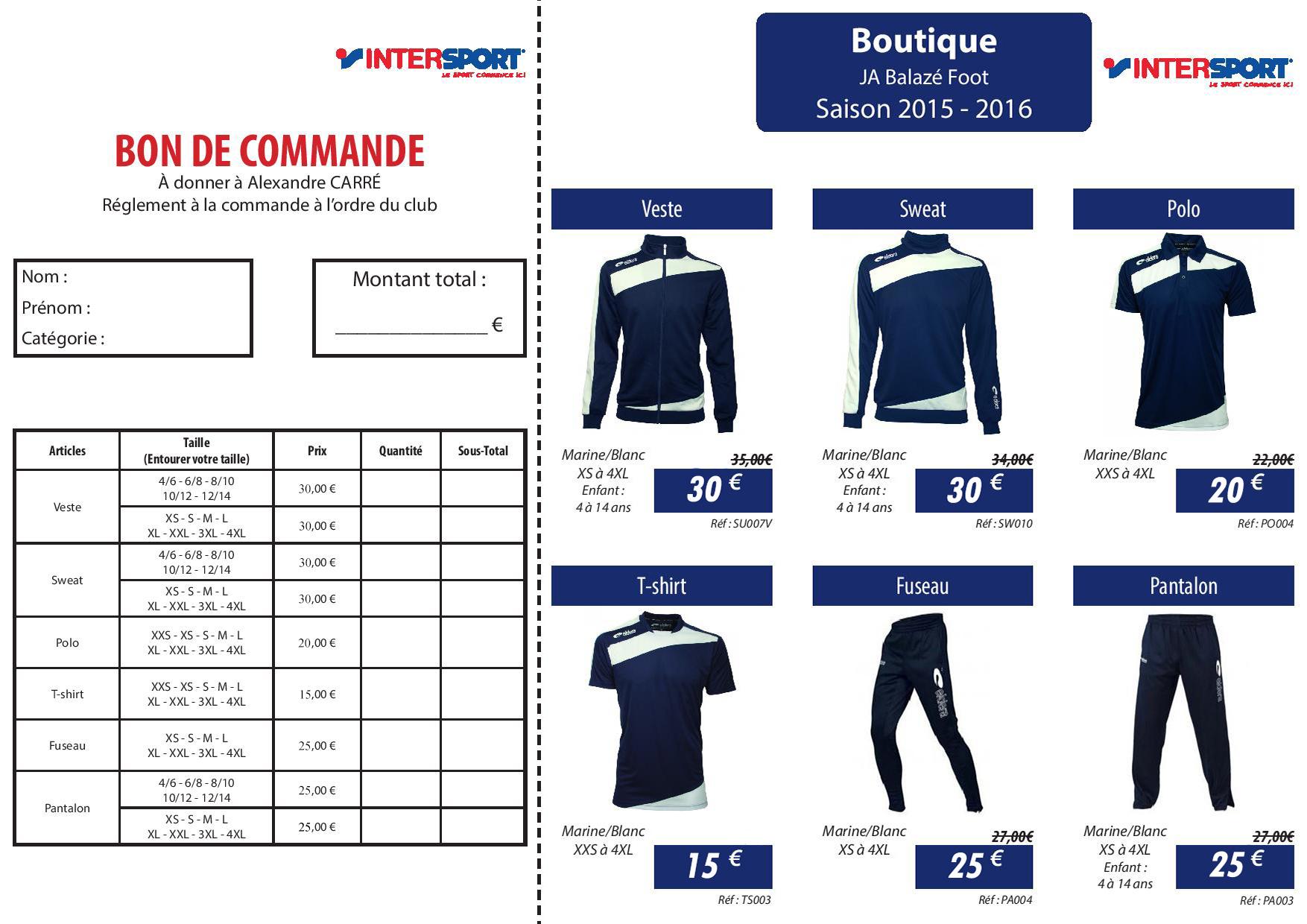 La boutique du club club football jeanne d 39 arc de balaze 2017 2018 fo - Bon prix suivi de ma commande ...