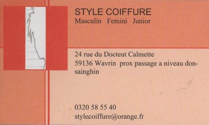 Style coiffure wavrin