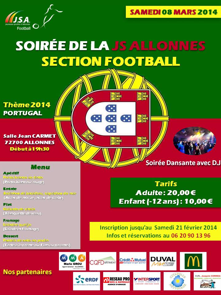 Soirée de la JS ALLONNES Section Football