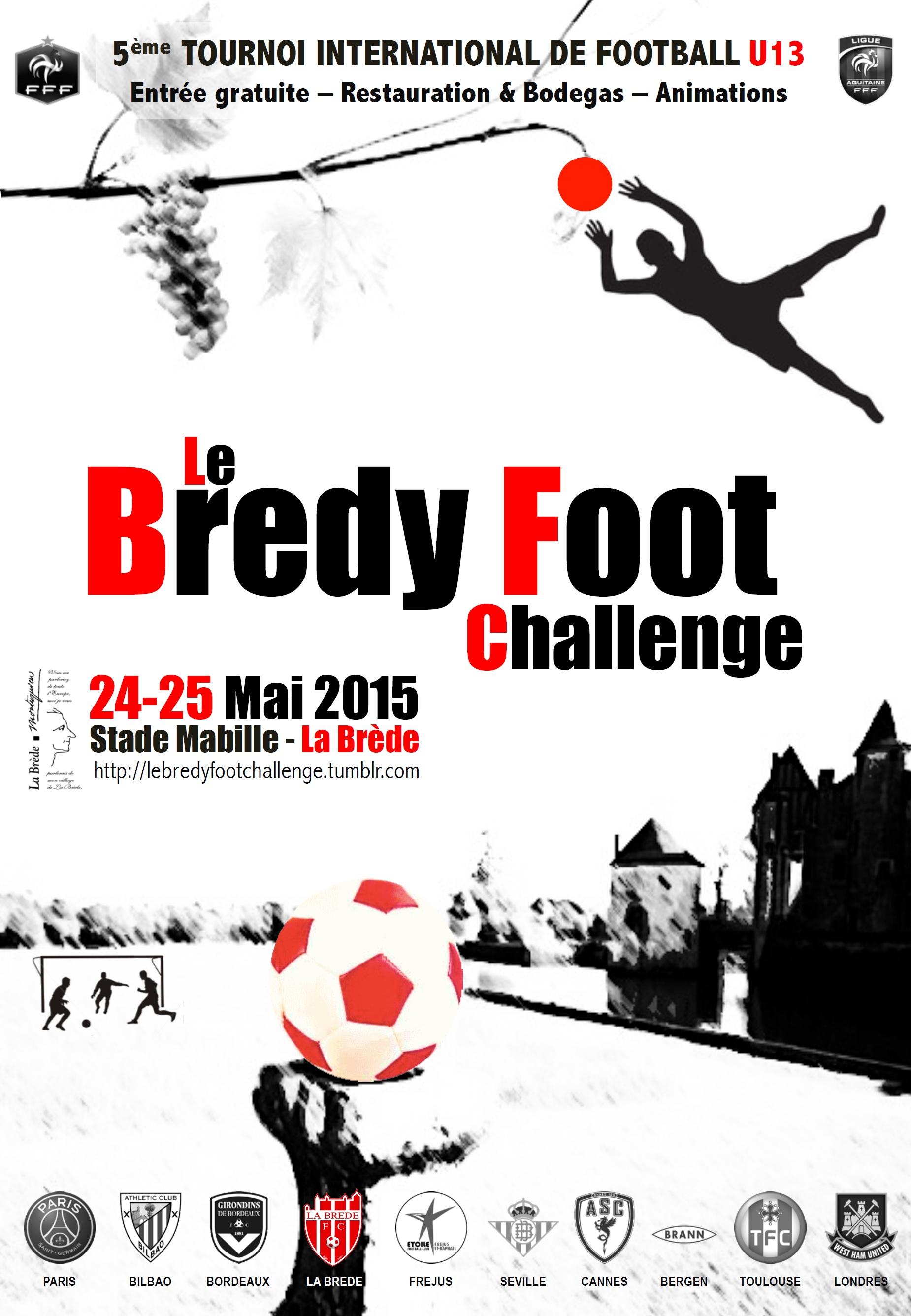 Affiche Bredy Foot Challenge 2015
