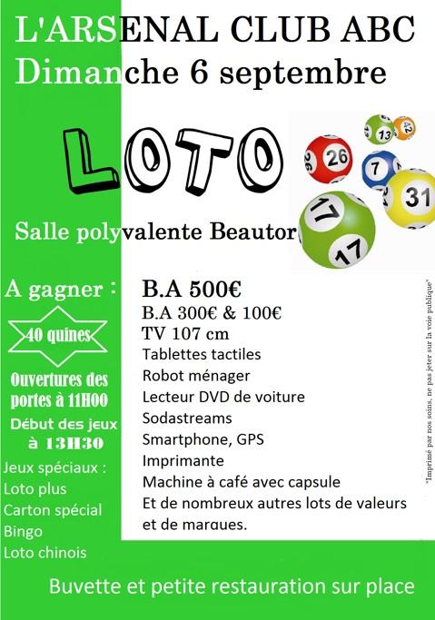 Affiche du loto du 6 septembre 2015