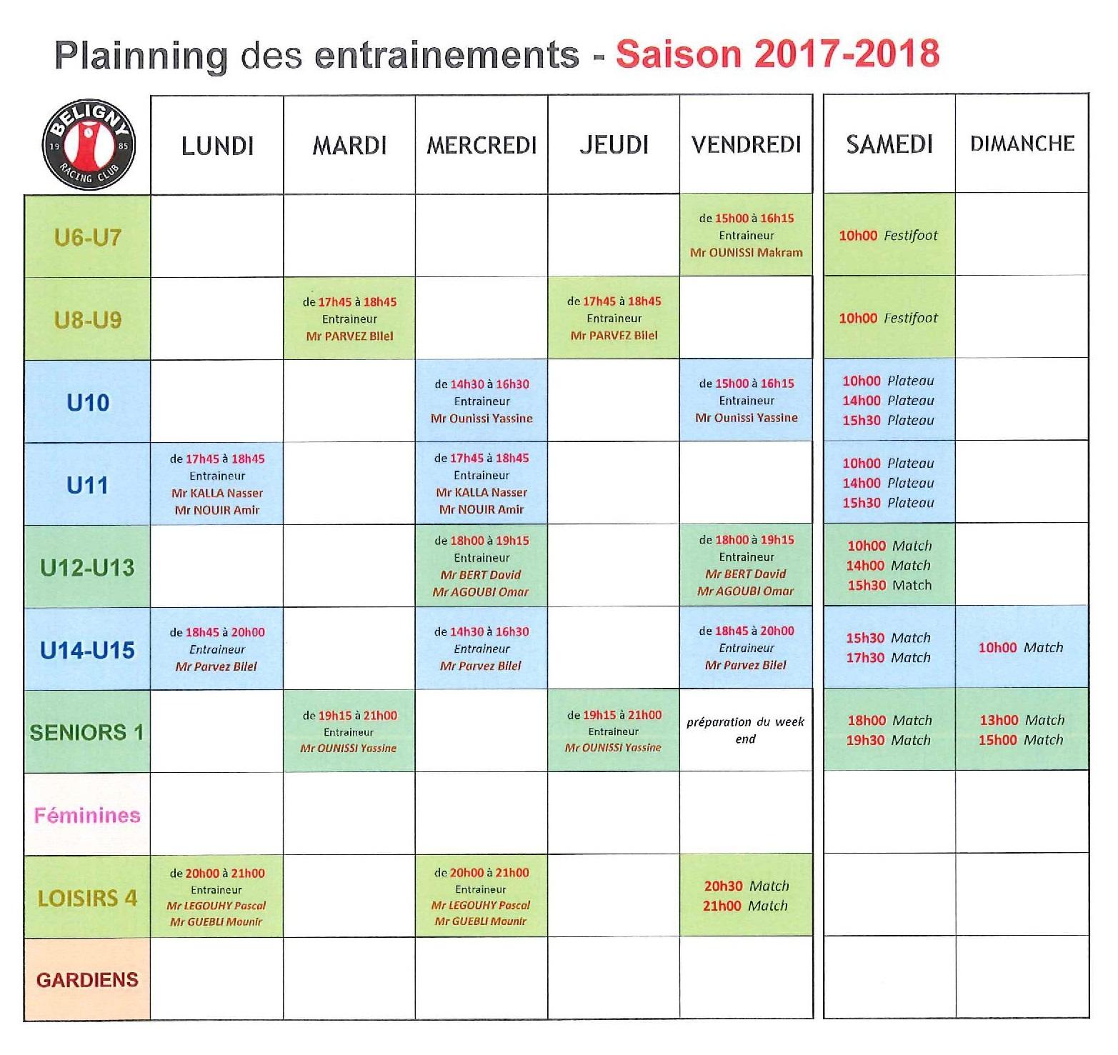 PLAINNING des ENTRAINEMENTS pour la SAISON 2017-2018.png