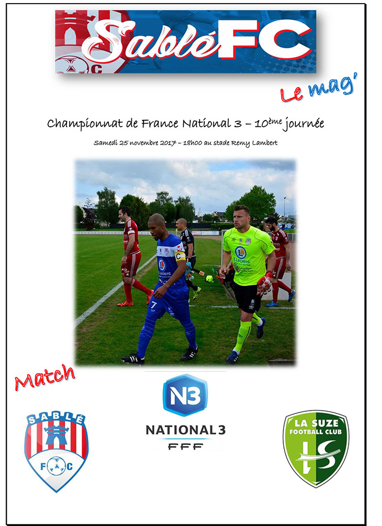 Programme Sablé FC - La Suze P 1.jpg