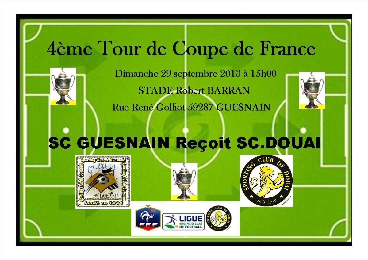 actualit 4 me tour de coupe de france club de football sporting club de douai footeo. Black Bedroom Furniture Sets. Home Design Ideas