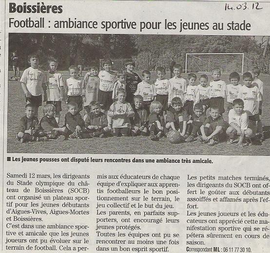 Plateaux Jeunes 12/03/2012