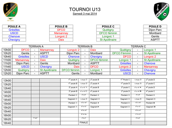Téléchargez le programme des matchs u13