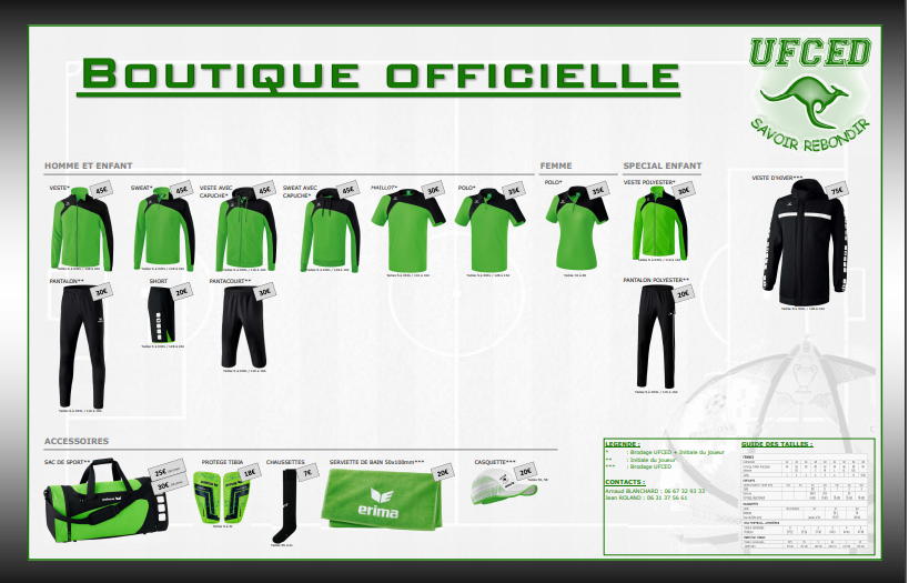 Boutique officielle 2018