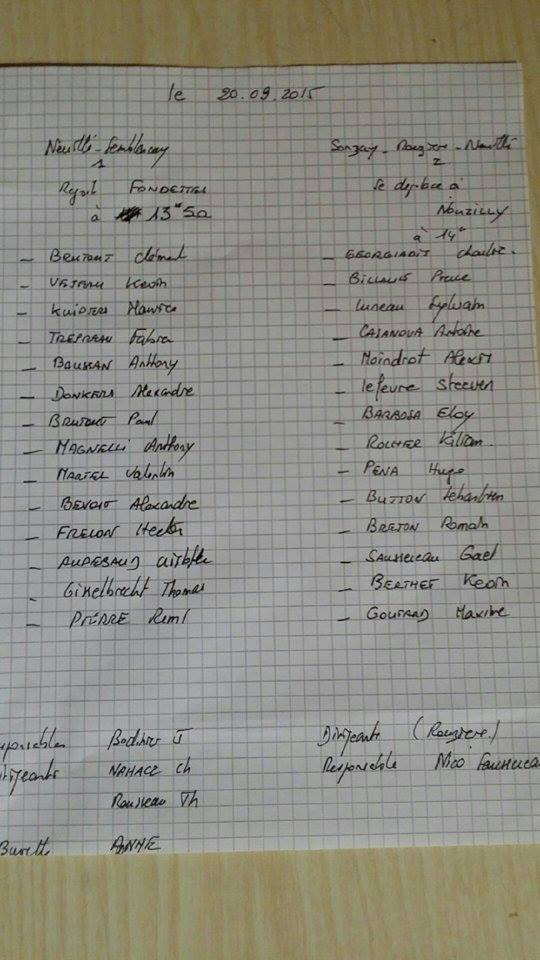 Convocations seniors 1 et 2