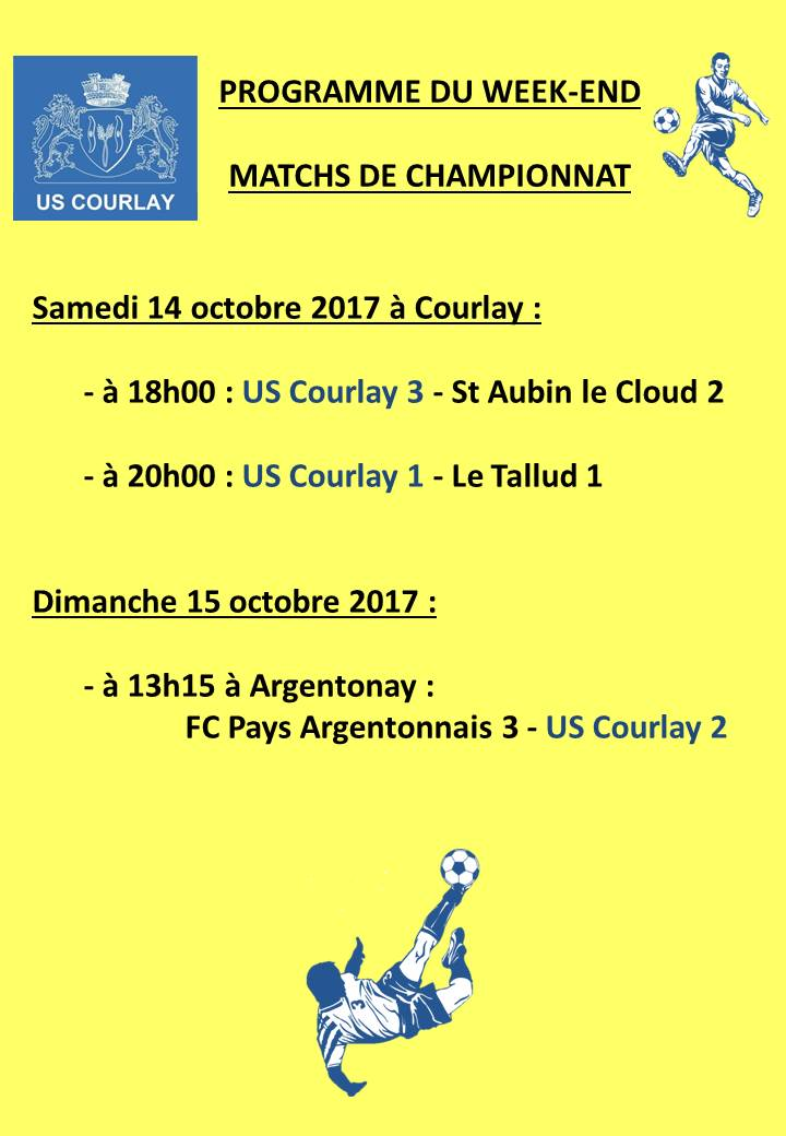 2017_10_12 Matchs_au_programme_du_week_end