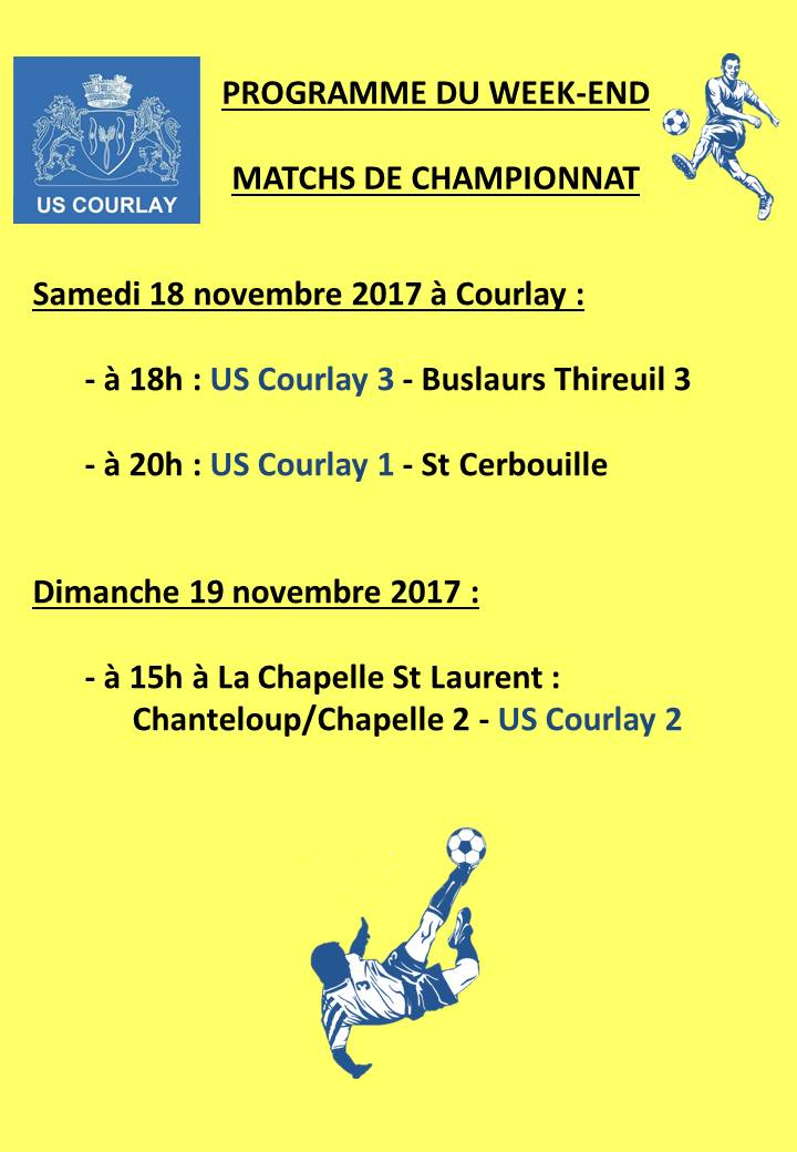 2017_11_16 Matchs_au_programme_du_week_end