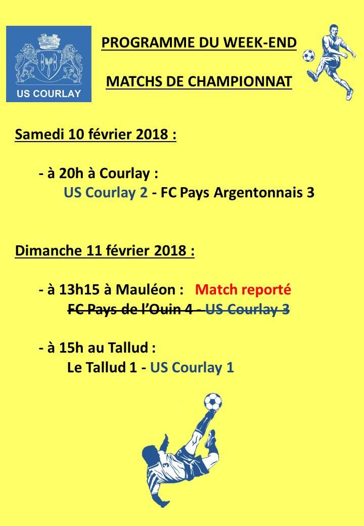 2018_02_08 Matchs_au_programme_du_week_end