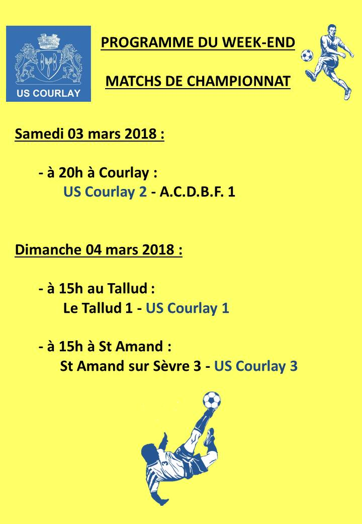 2018_03_01 Matchs_au_programme_du_week_end