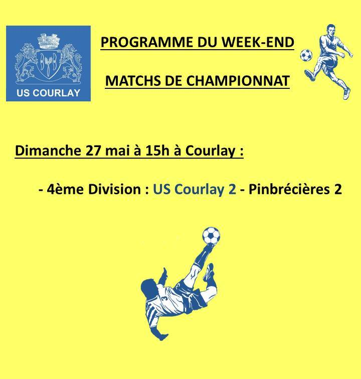 2018_05_24 Matchs_au_programme_du_week_end