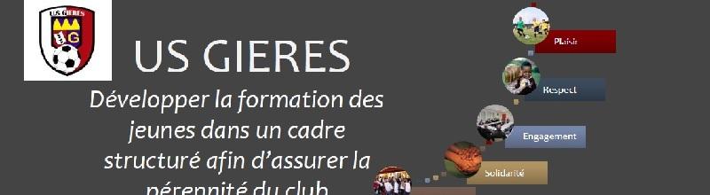 US GIERES : site officiel du club de foot de GIERES - footeo