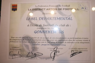 DIPLOME LABEL DEPARTEMENTAL ECOLE DE FOOTBALL