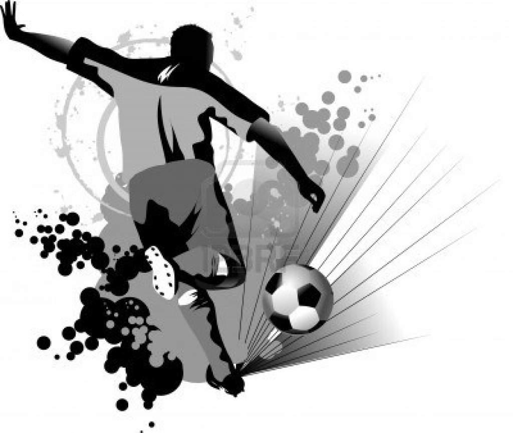 actualit u00e9 stage de foot pour la toussaint ouvert a football players vector art black and white football players vector images