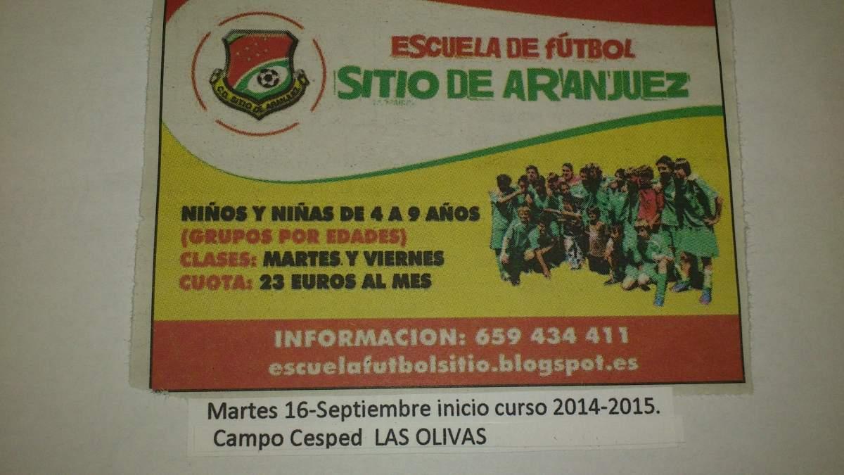 Escuela de fútbol Sitio de Aranjuez