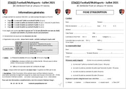 Stages Football / Multisports - Juillet 2021