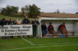 ASSER I - Dombes/Bresse II : 3-0. Le 28 octobre 2018 - AS Saint Etienne sur Reyssouze