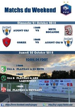 Match du Weekend du 20/10/2018