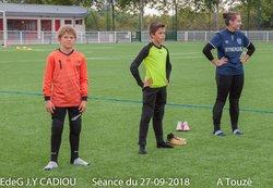 EdeG Séance du 27/09/18 Assouplissements - Ecole de gardien de but Jean-Yves Cadiou