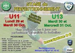 Stage de perfectionnement U11 et U13