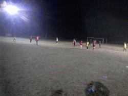 Les U15 à l'entrainement par -2. Même pas froid. - ESN Football