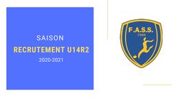 RECRUTEMENT U14 R2 - Saison 2020-2021