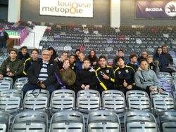 Les U14 U15 au challenge orange au stadium de Toulouse 27/10/18 - Football Club Bessieres-Buzet
