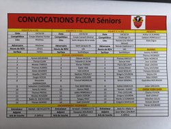 Convocations seniors du 14/10/18