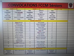 Convocations groupe senior
