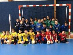 U8/U9 entraînement salle décembre 2018 - FC Presqu'île Vilaine